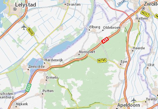 Mapa Nunspeet