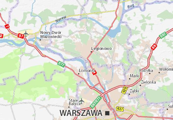 Mapa Jabłonna