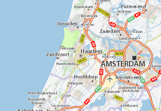 Map of Haarlem - Michelin Haarlem map - ViaMichelin