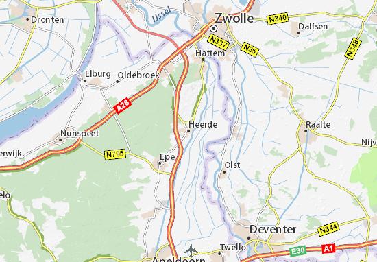 Mapa Heerde