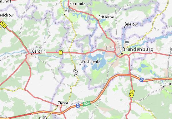 Karte Stadtplan Kirchmöser