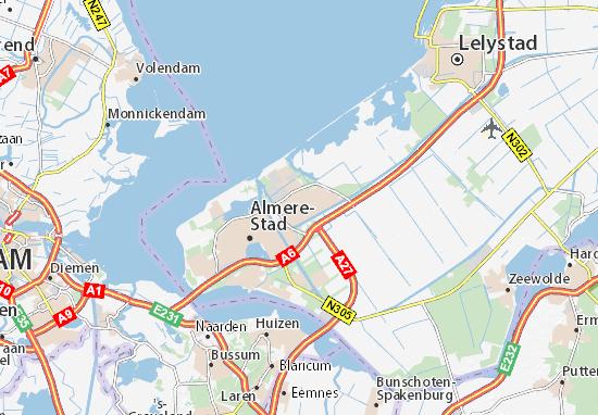 kaart almere Kaart van Almere Buiten  plattegrond van Almere Buiten  ViaMichelin