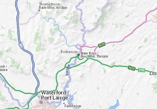 Rosbercon Map