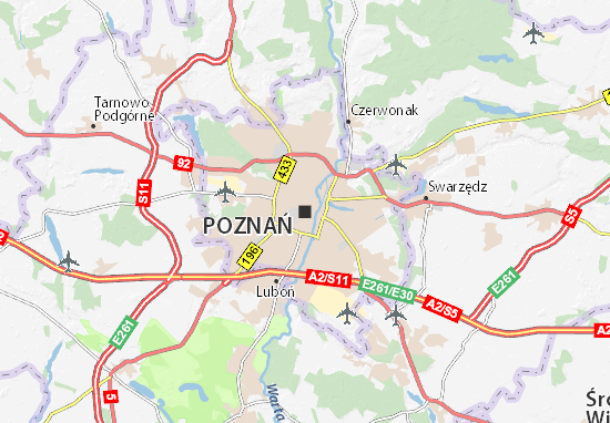 Kaart Plattegrond Poznań