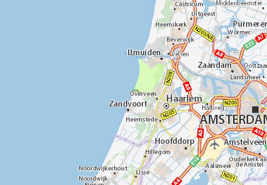 Karte, Stadtplan Bloemendaal aan Zee - ViaMichelin