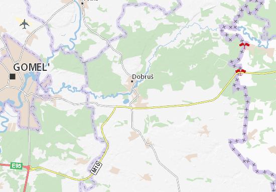 Kaart Plattegrond Dobruš