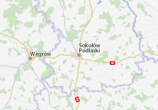 Mapa Sokołów Podlaski