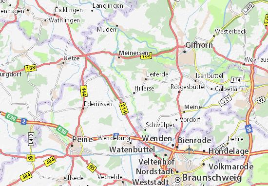 Karte Stadtplan Hillerse