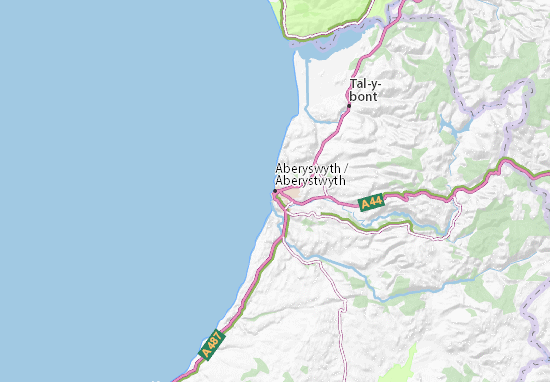 Carte-Plan Aberyswyth