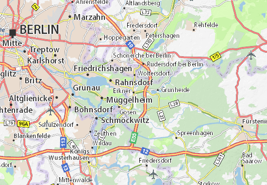 Karte Stadtplan Erkner