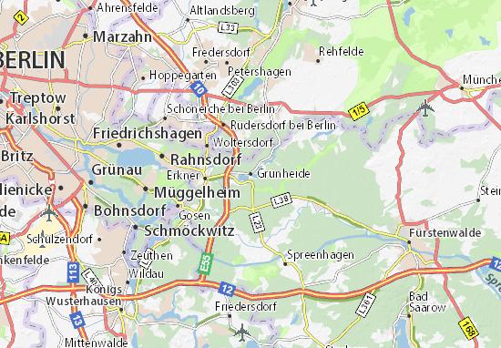 Karte Stadtplan Grünheide