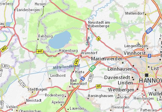 Carte-Plan Wunstorf