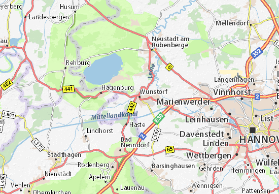 Karte Stadtplan Wunstorf