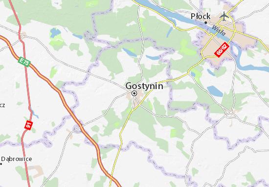 Mapa Gostynin