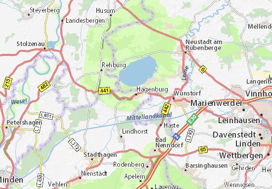 Karte Stadtplan Hagenburg