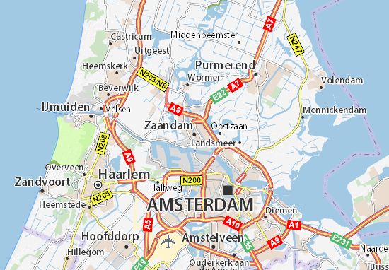 Carte-Plan Zaandam