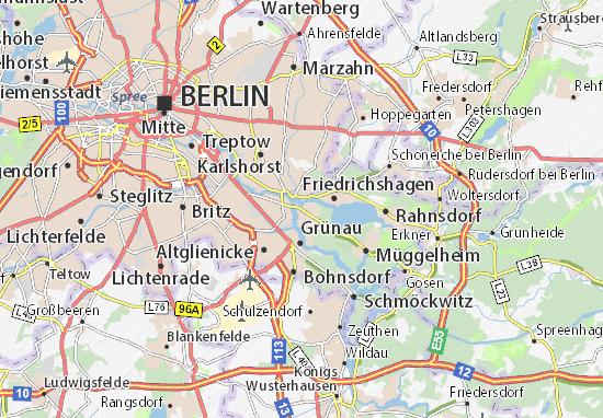 Karte Stadtplan Köpenick Viamichelin