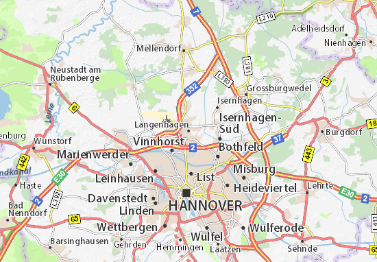 Carte-Plan Langenhagen