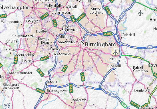 Edgbaston Map Detailed maps for the city of Edgbaston ViaMichelin – Birmingham Tourist Map