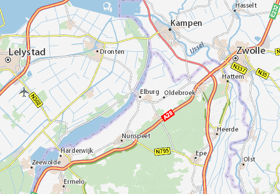 Mapa Elburg