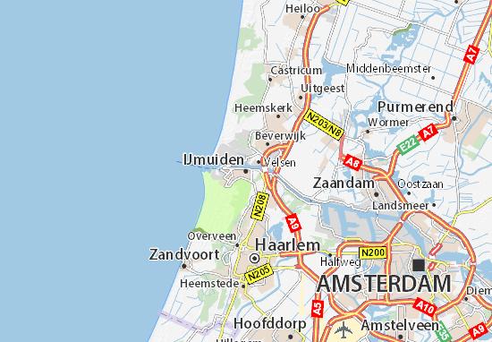 Kaart Plattegrond IJmuiden