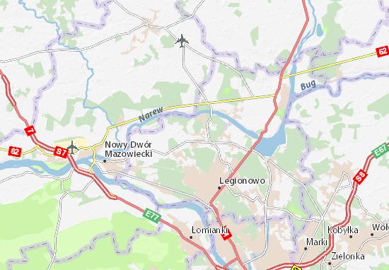Mapa Skrzeszew