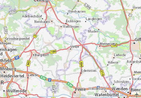 Karte Stadtplan Uetze