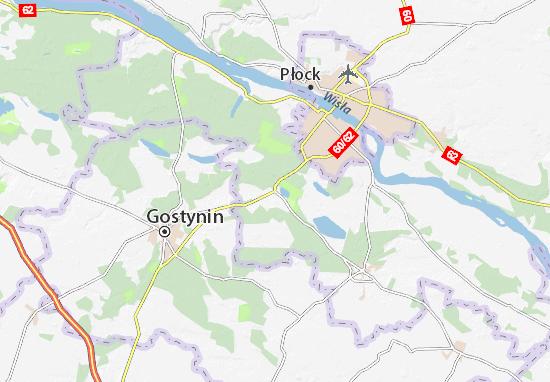 Łąck Map