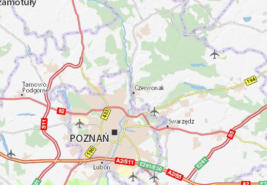 Czerwonak Map