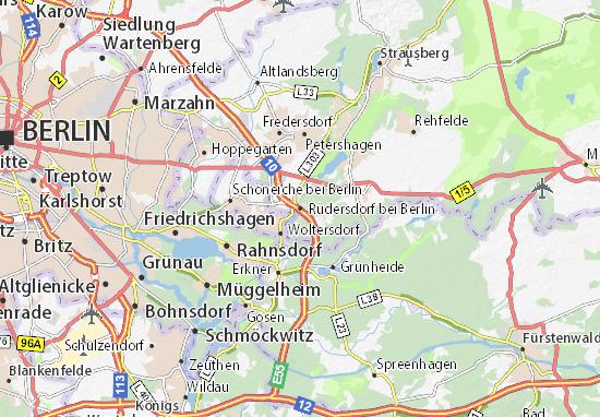 Karte Stadtplan Rüdersdorf bei Berlin