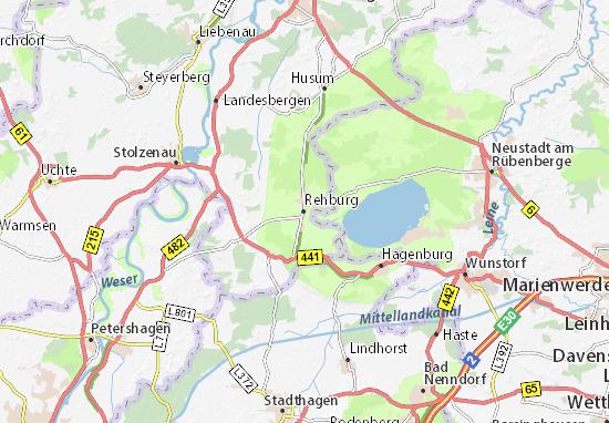 Carte-Plan Rehburg