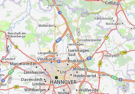 Carte-Plan Isernhagen