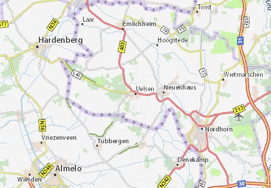 Karte Stadtplan Uelsen