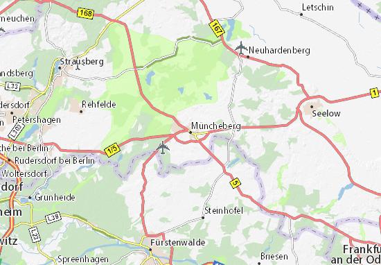 Karte Stadtplan Müncheberg