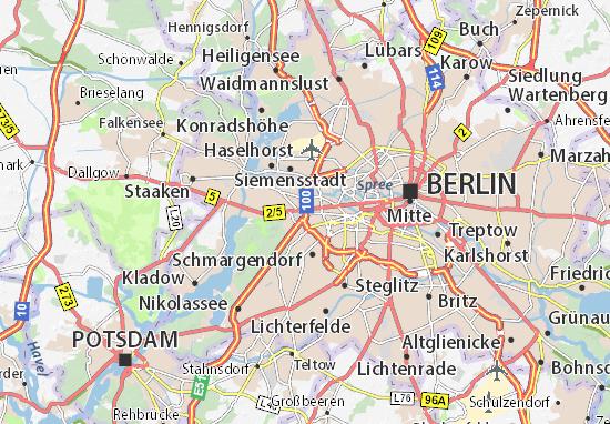 berlin mapa Map of Berlin   Michelin Berlin map   ViaMichelin berlin mapa