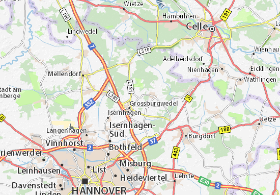 Karte Stadtplan Burgwedel