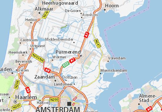 Karte Stadtplan Purmerend