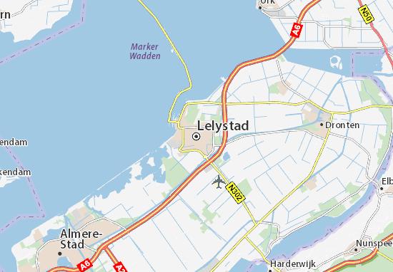 Kaart Plattegrond Lelystad