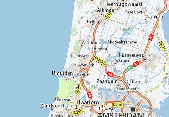 Kaart Plattegrond Heemskerk