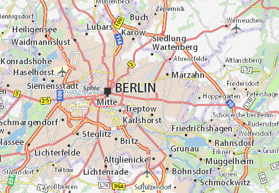 Lichtenberg Map Detailed Maps For The City Of Lichtenberg - Berlin map of tourist attractions