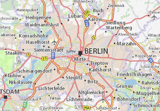 Map Of Mitte Michelin Mitte Map ViaMichelin - Berlin mitte map