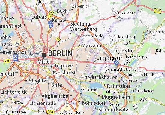 Berlin Mitte Karte.Karte Stadtplan Kaulsdorf Viamichelin