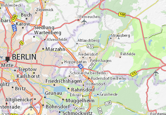 Karte Stadtplan Fredersdorf