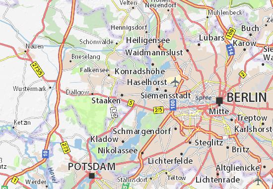 Spandau Map: Detailed maps for the city of Spandau - ViaMichelin