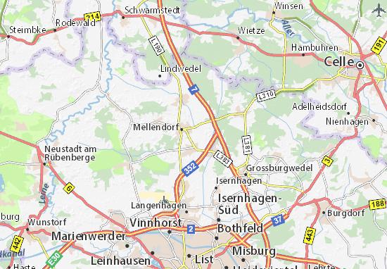 Karte Stadtplan Wedemark