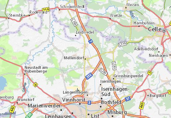 Kaart Plattegrond Mellendorf