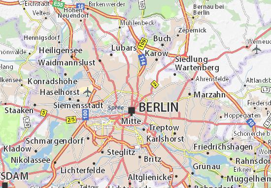 Map Of Berlin Prenzlauer Berg Michelin Berlin Prenzlauer Berg - Berlin mitte map