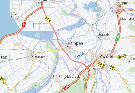 Karte Stadtplan Kampen