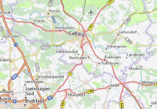 Karte Stadtplan Adelheidsdorf