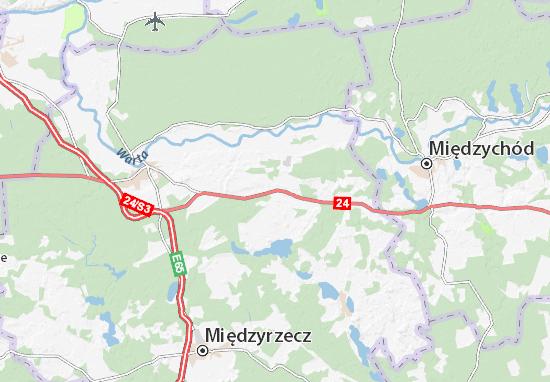 Przytoczna Map
